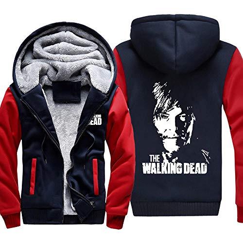 BINGFENG Männer Warm Halten Hoodie The Walking Dead T-Shirt Long Sleeve Warme Kleidung Mantel C-M