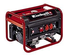 Groupes électrogènes (essence) TC-PG 2500 (4 kW, puissance permanente 2.100 W, max. 2.400 W, deux connecteurs de 230 volts, réservoir de 15 L, voltmètre, disjoncteur de surcharge, sécurité des pannes d'huile, fonction AVR, démarrage du câble)