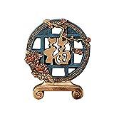 KGDC Escultura Ornamentos Decoración de Resina de Estilo Chino, Regalo de decoración del hogar, Hecho a Mano, Adecuado para Sala de Estar de Escritorio de Oficina, etc. Decoración del Escritorio