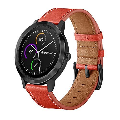 XZZTX Compatibel met voor Garmin Vivomove HR Band, Top Lederen Vervangende Bandjes Polsbanden voor Vivoactive 3 / Vivomove HR Smartwatch