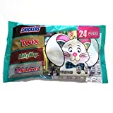 Mars (1 bag) Easter 24 Pieces Mini Chocolate Candy Mix - Snickers, Twix, Milky Way, 3 Musketeers - 7.07 oz / 200.4 g