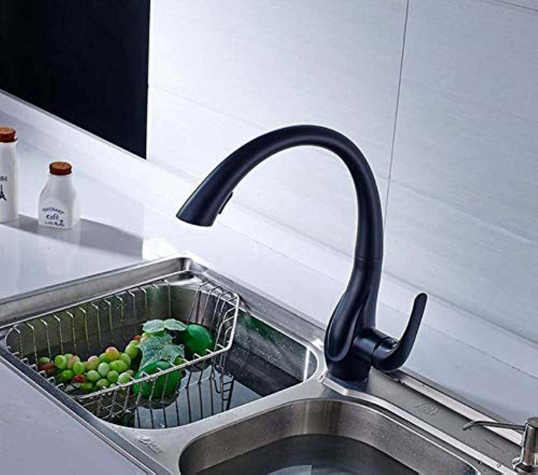Oudan Küchenarmatur montiert Einhand-Deckplatte Loch Golden All Around Rotating Swivel 2-Funktions-Wasser Wasser-Spüle, C (Farbe   E, Gre   -)