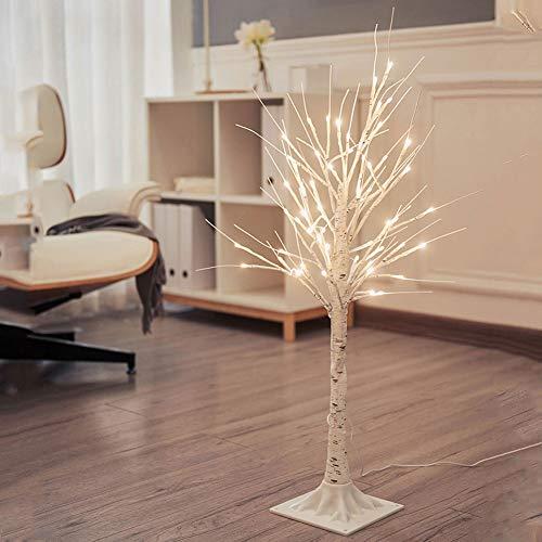 MYALQ Decorative Stehlampe, Moderne kreative Handgewebt Stehlampe, Baum LED Stehlampe für Innen 90 cm, USB Ladekabel, Warmweiß