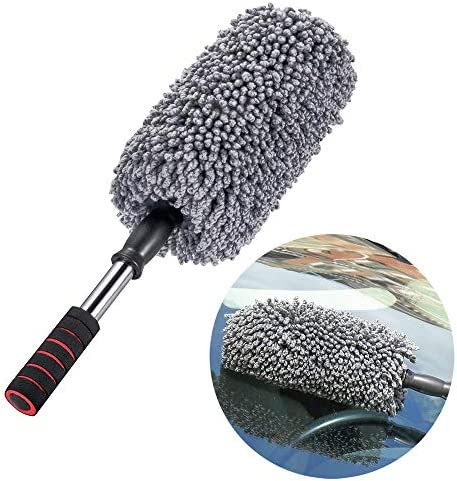 IPELY Super Soft Microfiber Car Duster Exterior with Extendable Handle Car Brush Duster for product image