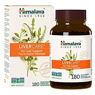 Himalaya LiverCare for Liver Cleanse and Liver Detox 375 mg, 180 Capsules, 90 Day Supply from Himalaya Herbal Healthcare