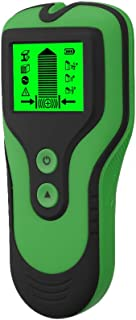 Sangmei Detector de parede com sensor de localizador de parafusos 3 em 1 Detector de metal/tensão/parafuso prisioneiro com...