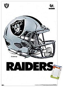 "Trends International NFL Las Vegas Raiders - Drip Helmet 20 Wall Poster, 22.375"" x 34"", Poster & Mount Bundle from Trends International"