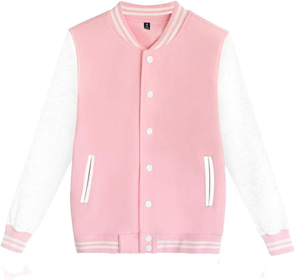 Bomber Jacket Men - NRUTUP Button Down Varsity Jacket, Baseball Jacket, Sports Bomber Jacket, Casual Basic Jacket