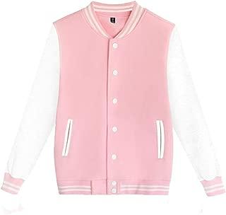iOPQO Men's Fall Casual Slim Fit Varsity Baseball Fashion Bomber Cotton Jacket S-3XL