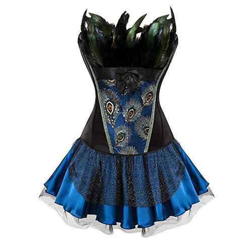 Damen Anime Cosplay Kostüm Vintage Gotik Corsagenkleid Barock Vintage Viktorianischen Rock...