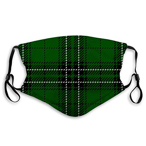 Clan Maclean Scottish Tartan Plaid Seamless Patter,Mouth Cover for Women,Face Mask Reusable Washable Cloth for Men