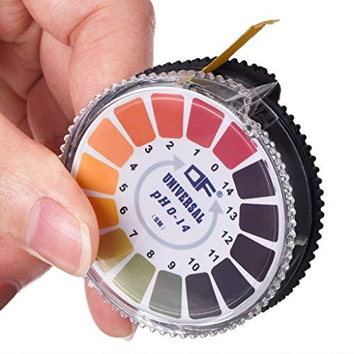 MMLC Universal-pH-Teststreifen Universal-pH-Teststreifen pH-Wert Messbereich 0-14 Indikatorstreifen 5m Lang (Multicolor)