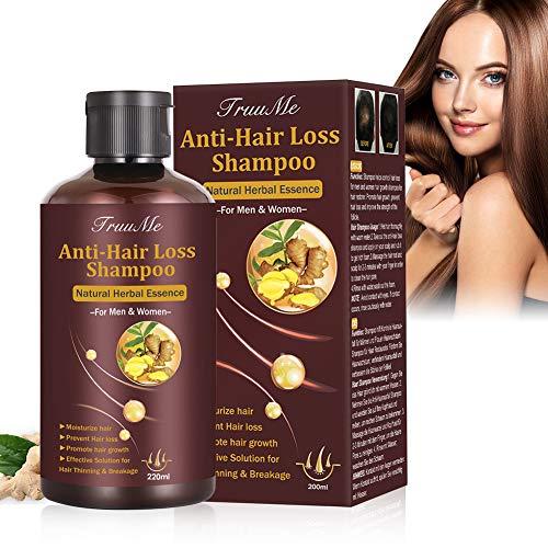 Haarwachstum Shampoo, Haarausfall Shampoo, Anti Haarverlust Shampoo, Shampoo Gegen Haarausfall, Hair Growth Natürliches Kräutershampoo für schnelleres Nachwachsen der Haare/Verhindert Haarausfall