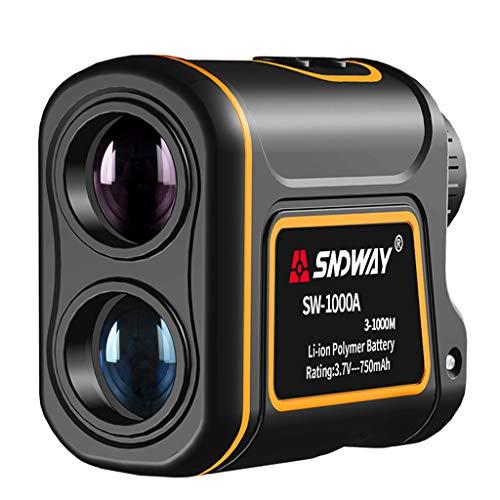 HANGESS Laser-Entfernungsmesser für Wild Hunting Golf 1000m mit Fernwinkelmessung Höhenmessung Geschwindigkeitsmessung Fahnenmastverriegelung und Naked Eye Focusing