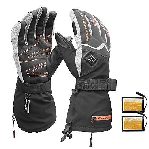 Story of life elektrisch verwarmde handschoenen, touchscreen-handschoenen met sterke verwarming, waterdichte 5-vinger-hand-back-charge-verwarming 3M warm