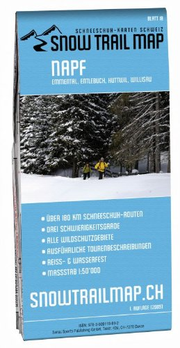 Snow Trail Map 18, Napf, Schneeschuh-Wanderkarte 1:50.000
