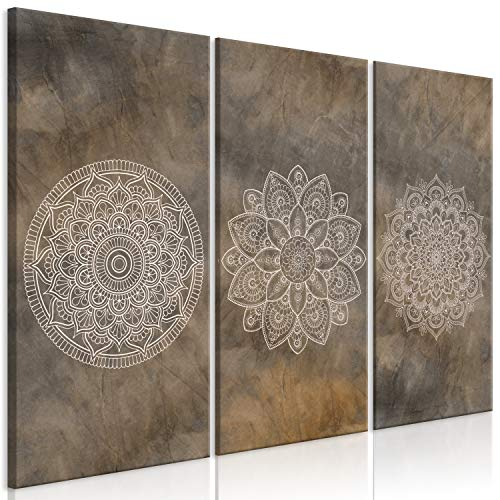 murando Cuadro Acústico Mandala 90x60 cm XXL Impresión Artística Lienzo de Tejido...