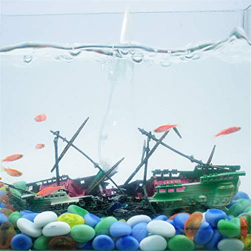 Fulltime E-Gadget Aquarium Dekor, großes kaputtes Boot, Aquarium versenktes Boot, Wrack Dekor