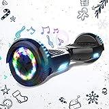 HITWAY 6,5 Pulgadas Hoverboard Patinete Eélctrico Scooter Electrico Hover Scooter Board con Altavoz Bluetooth y Luces LED Flash, Niños