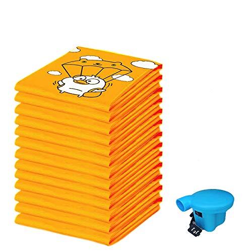 Pacchetto sacchetti stoccaggio sottovuoto 20, sacchetto stoccaggio della casa viaggio, 2extra grande + 4 grande + 6 medio + 8 risparmiatori spazi piccoli e riutilizzabili con pompa a mano libera per