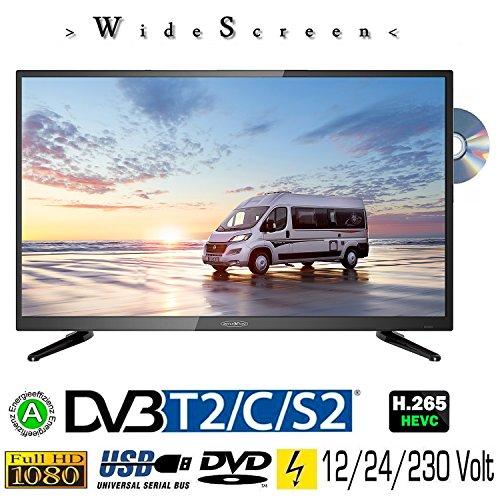 Reflexion LDD3288 WideSceen LED Fernseher mit 32 Zoll 80 cm , DVB-S2, DVB-T2, DVB-C, DVD, USB, 230V + 12Volt + 24Volt, Energieeffizienzklasse A , Blickwinkel 178/178 Grad v/h für Camping, LKW, PKW