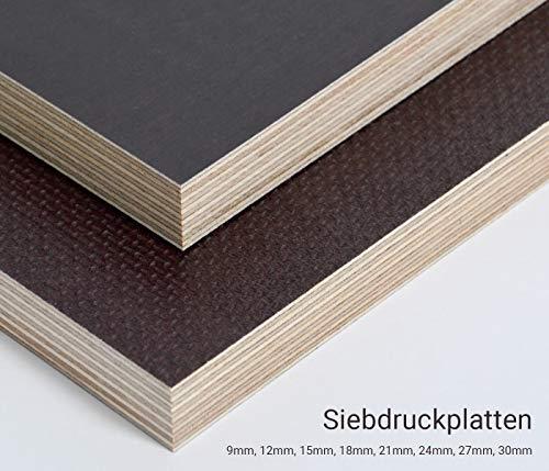 9mm Multiplex Zuschnitt Siebdruckplatten Multiplexplatten Zuschnitte Melaminbeschichtet Birke Bodenplatte Holz Braun Grau (Breite 55 cm, Länge 110 cm)