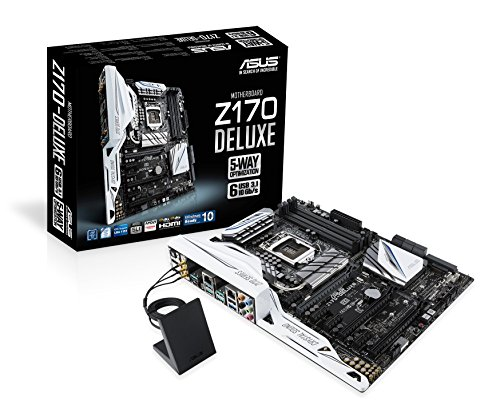 Asus Z170-Deluxe moederbord socket 1151 (ATX, Intel Z170, 4x DDR4-geheugen, USB 3.1, M.2-interface)
