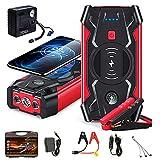 7HAHA3 Vehículo Jump Starters 18V Teléfono Móvil Cargador Inalámbrico Power Bank Auto Car Emergency Booster con Bomba de Aire y Caja