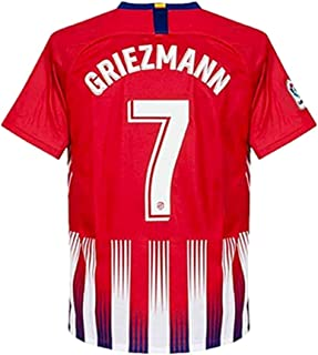 ac1c9b7ee TINGYWANM Atletico Madrid Mens 18-19 Season  7 Griezmann Home Soccer Jersey  Color Red