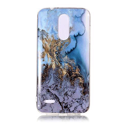 Yhuisen Handy-Taschen und Handy-Hüllen, LG K8 2018 Fall, Marmor Stein Muster weichen TPU zurück Shell Fall für LG K8 2018 (Farbe : 11)
