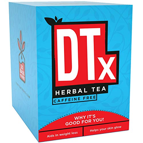The Tea Trove Dtx Cleanse Tea for Weight Loss and Belly Fat and Skin Glow with Traditional Ayurvedic Herbs | Steep as Hot Herbal Detox or Iced for Weight Loss Tea | Caffeine Free (21 Bags)