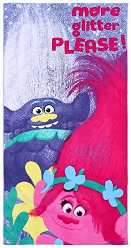 Toalla de Playa, Color Violeta, 70x140 Trolls