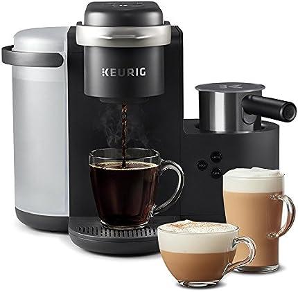 Keurig K-Cafe Cafetera, porción individual, compatible con todas las cápsulas K-Cup, prepara latte y capuchino, vaporizador de leche incluido seguro para lavavajilla, color carbón