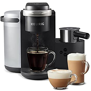 Keurig K-Cafe Single-Serve K-Cup Coffee Maker Latte Maker and Cappuccino Maker Comes with Dishwasher Safe Milk Frother Coffee Shot Capability Compatible With all Keurig K-Cup Pods Dark Charcoal