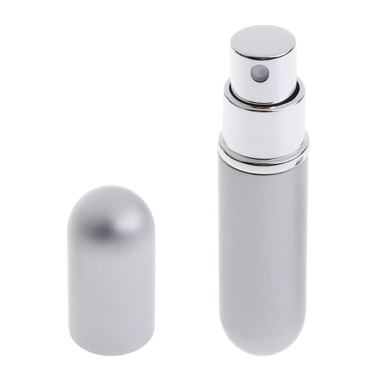 CUTICATE 香水ボトル スプレーボトル 収納ボトル メイクアップ DIY 詰替え 6ml 全7色 - 銀
