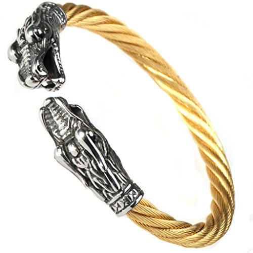 AmDxD Joyería Acero Inoxidable Pulsera Cuff Hip Hop Pulsera para Hombres Men Bracelet Jewelry