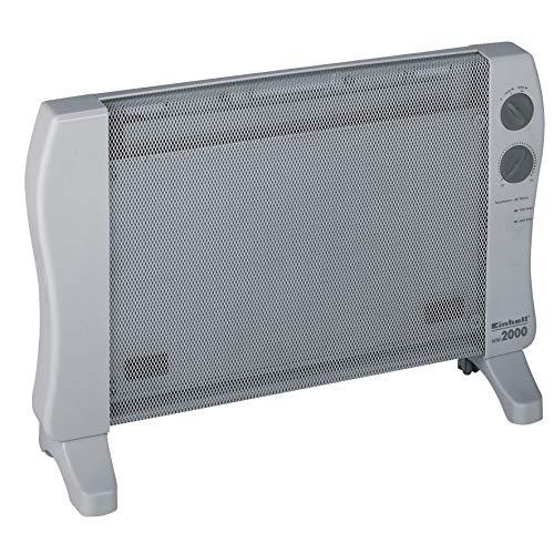 Einhell Wärmewellenheizung WW 2000 (230 V, 2000 W max., hochwertiges Mica Heizelement, stufenloser Thermostatregler, 2 Heizstufen, Kippschutz)