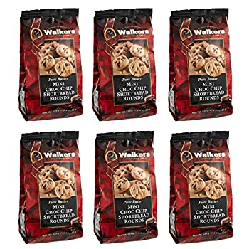 Walkers Shortbread Mini Chocolate Chip Shortbread Cookies 4.4 Ounce Bag  Pack of 6
