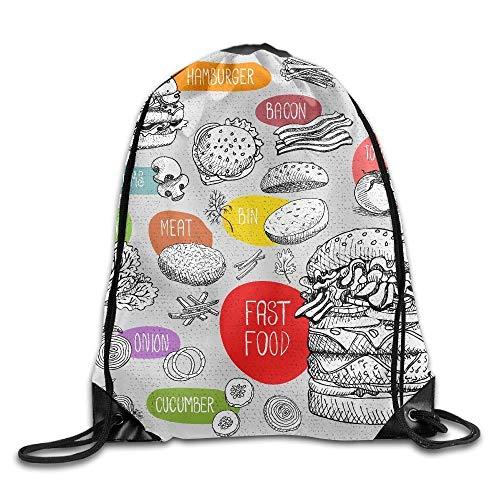 uykjuykj Tunnelzug Rucksäcke, Drawstring Backpack Art Design Print Rucksack Shoulder Bags Gym Bag Cool Nerver Forget 911 Memory September 11th 17