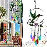 SPECOOL Campanas de Viento de colibrí Decoración Interior al Aire Libre Carillón de Viento de Metal Receptor Solar para el hogar Habitación Patio Balcón Decoración de jardín Adorno Artesanía Regalo