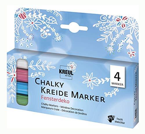 Chalky - Rotuladores de tiza (4 unidades)