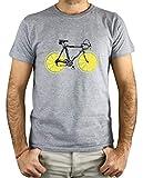 PLANETACAMISETA Camiseta Hombre - Ilustración Bicicleta Limones