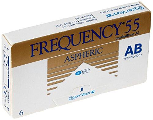 Frequency 55 ASphere Monatslinsen weich, 6 Stück / BC 8.70 mm / DIA 14.40 mm / 4.00 Dioptrien