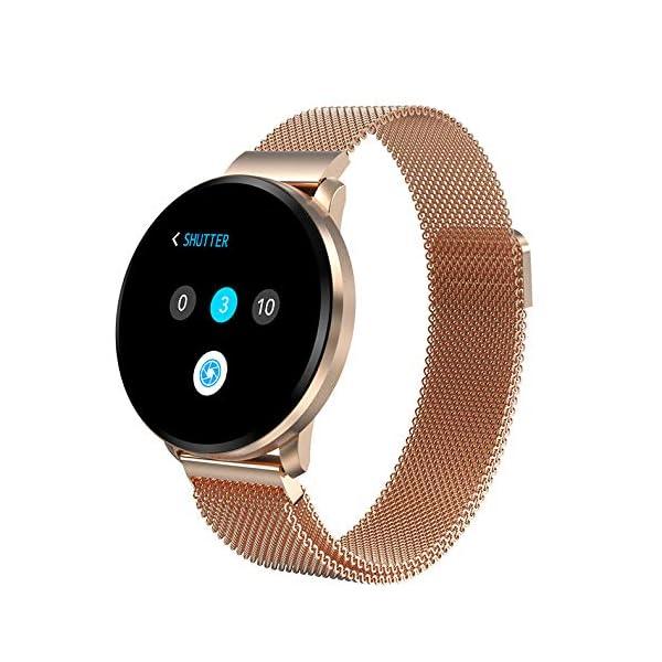 Smartwatch Fashion para Hombre Mujer Impermeable Reloj Inteligente Monitores de Actividad Fitness Tracker con Monitor de… 2