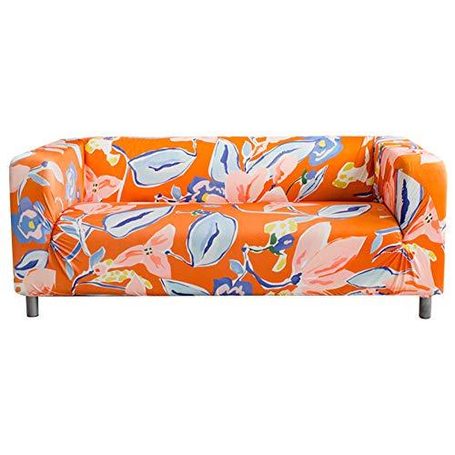 Fundas SofáNaranja Fundas Sofa Elasticas,Funda de Sofa Chaise Longue,Moderna Cubre Sofa,La Funda para Sofa Jacquard de Poliéster (235-310cm)