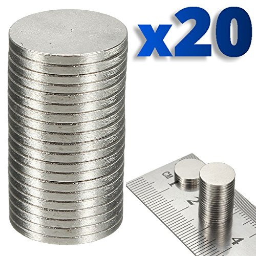 BisLinks® 20 x Rare Magnet Round Disc Magnets Earth Neodymium Craft 10.1mm N50 Grade
