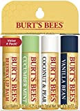 Burt's Bees 100% Natural Moisturizing Lip Balm, Multipack - Original Beeswax, Cucumber Mint, Coconut & Pear and Vanilla Bean with Beeswax & Fruit Extracts - 4 Tubes
