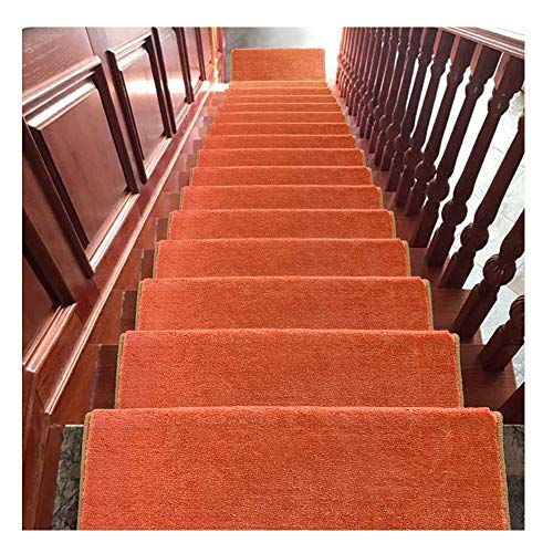 HYL Tappeti per Scale Tappetini per Scale 24x65cm Tappetini per Moquette Shaggy Step 18mm Tappetini Antiscivolo per Scale (Color : B, Size : 5 Pieces Set)