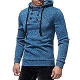 ZZOU Men's Long Sleeve Pullover Hoodie Sweatshirts Solid Color Hoody Sports...