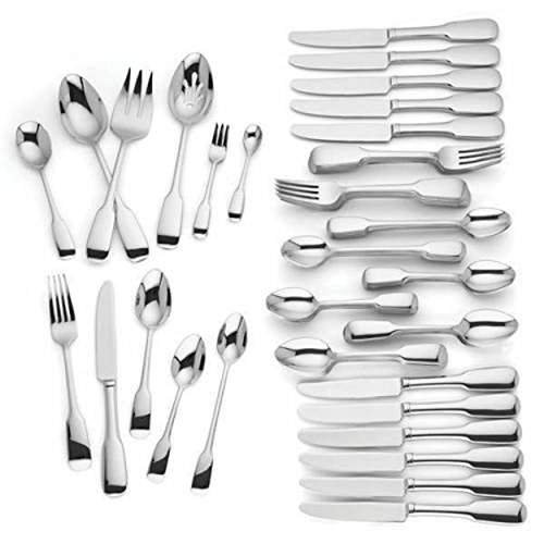 Lenox Lakedale 72 Piece Flatware Set Service For 12 Stainless Steel 18/10 Modern